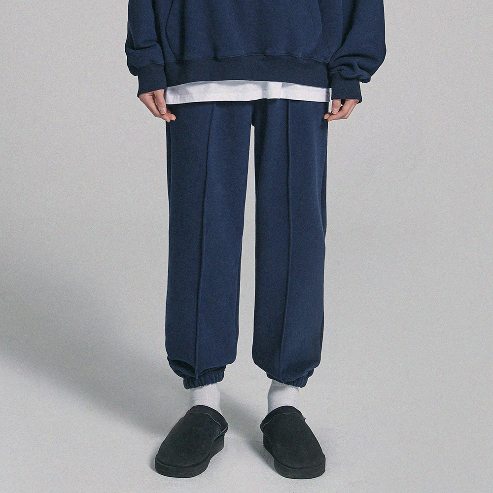 GAC JOGGER SWEAT PANTS navy (기모)