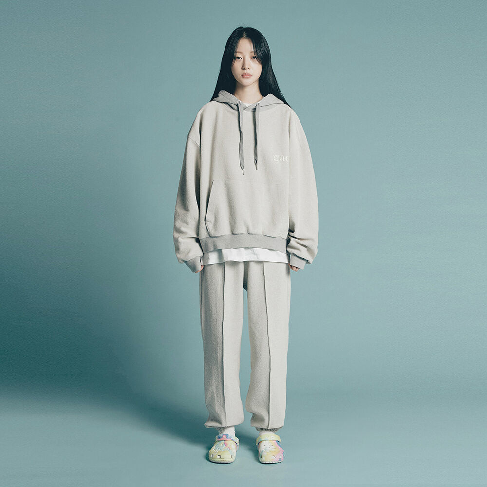[SET UP] GROUND HOODIE SET grey