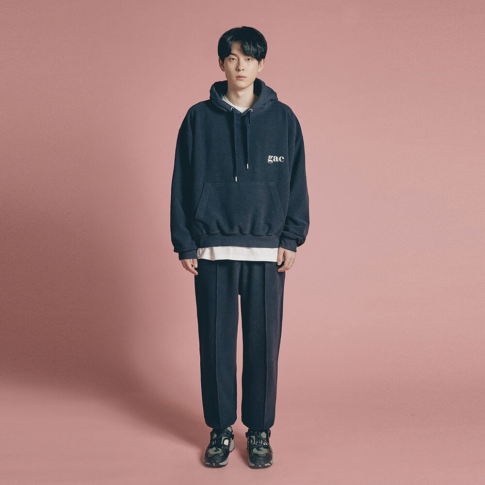 [SET UP] GROUND HOODIE SET navy