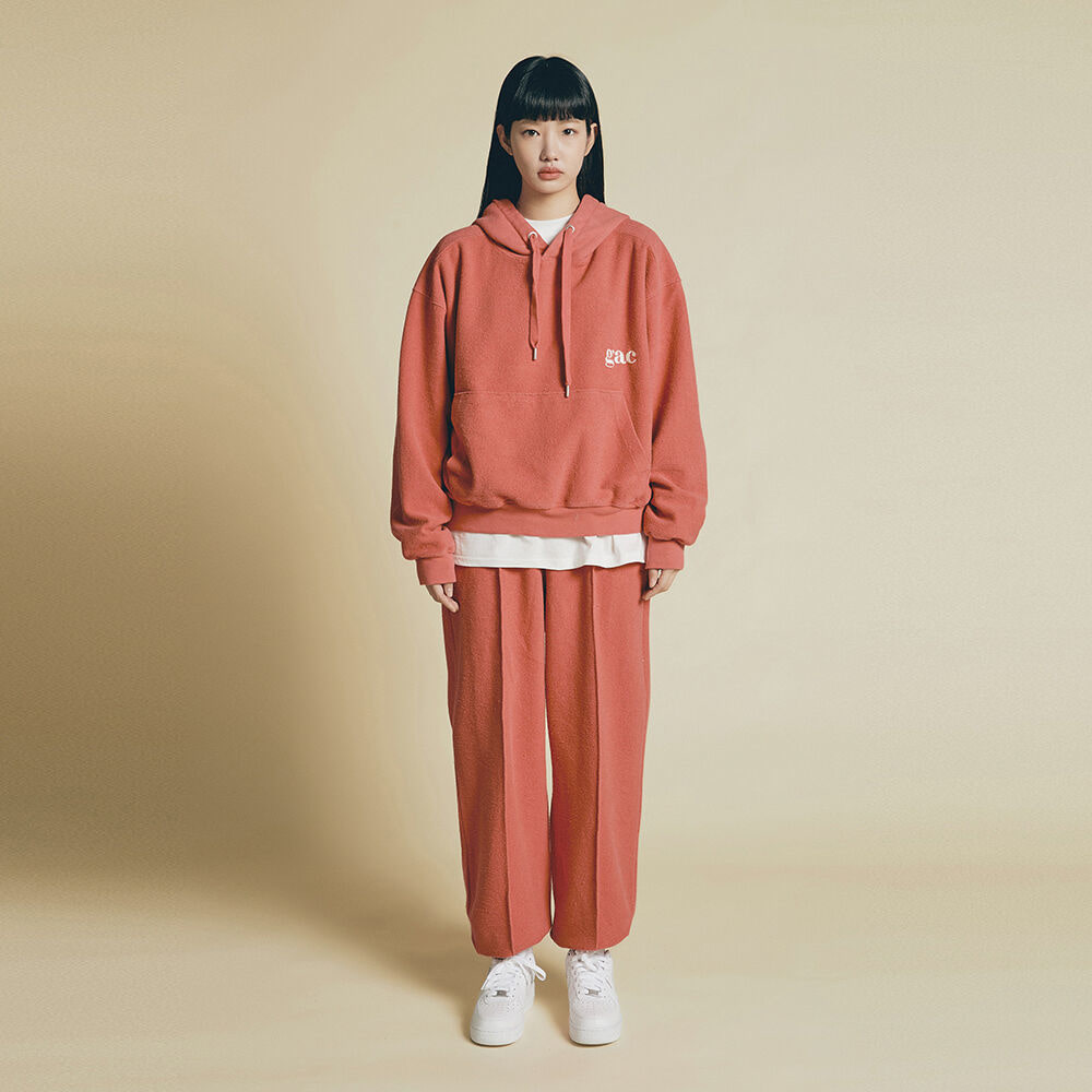 [SET UP] GROUND HOODIE SET coral