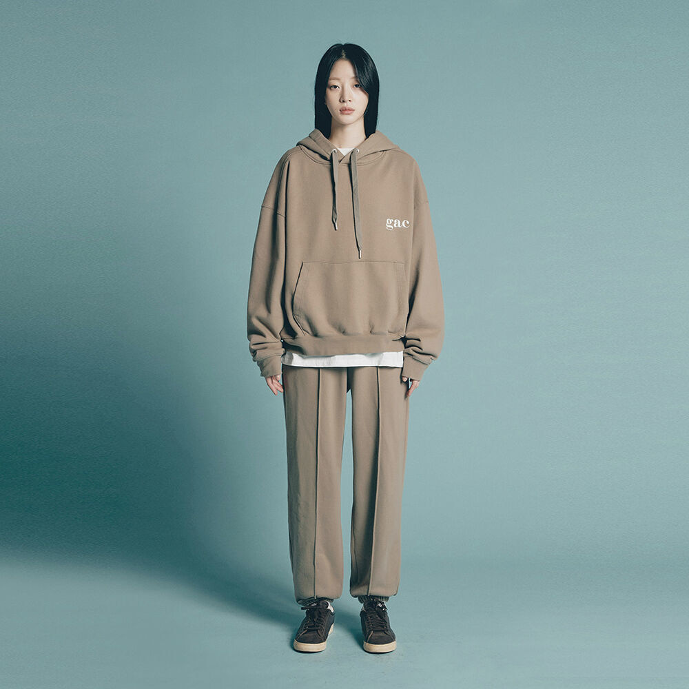 [SET UP] GAC SIGNATURE HOODIE SET khaki brown