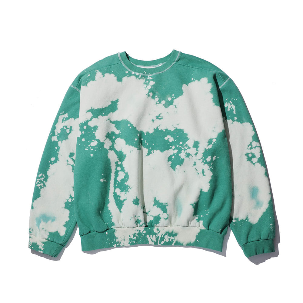 BLEACH-PIGMENT CREWNECK_green